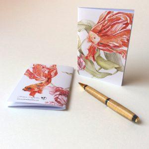"Carnet ""Poissons tulipes"" - Aquarelle Jordane Desjardins"
