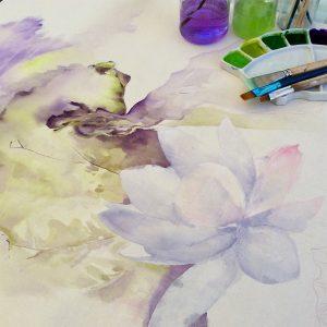 Palette de couleurs aquarelles