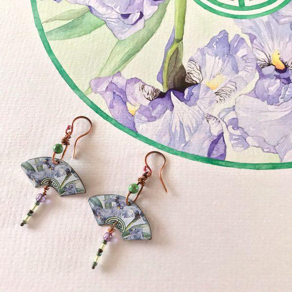 Boucles d'oreille iris yunqi