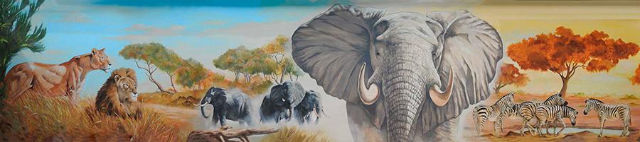 Lions-elephants