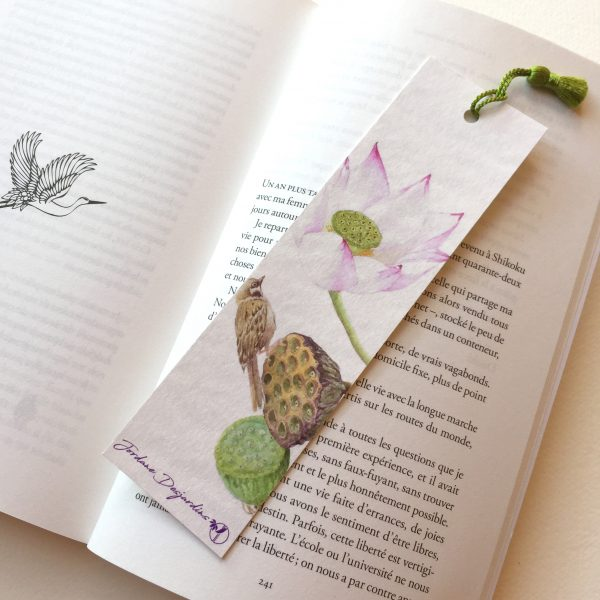 Moineau et lotus livre