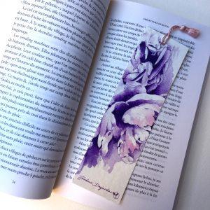 """Marque page """"Bouquet de pivoines"""""""
