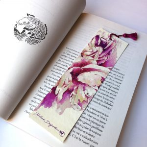 """Marque page """"Bouquet de pivoines 2"""""""
