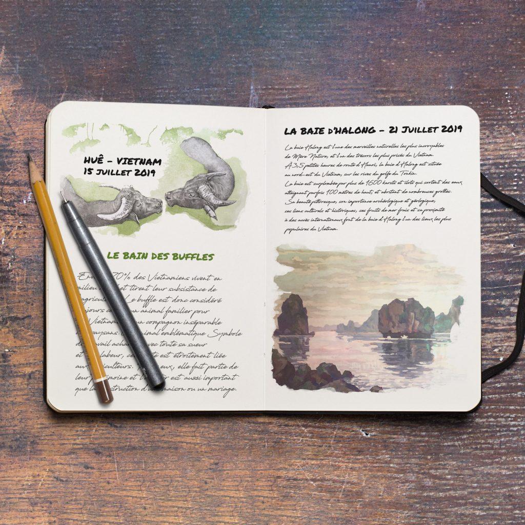 Carnet à thème, carnet de voyage par Jordane Desjardins