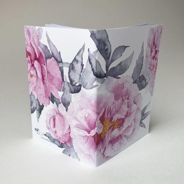 Carnet notes - aquarelle pivoines - Jordane Desjardins