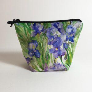 Pochette textile velours iris aquarelle de Jordane Desjardins