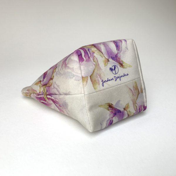 Pochette textile dessous Pivoines oiseau - Aquarelle Jordane Desjardins
