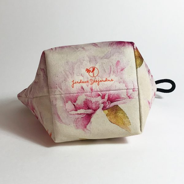 Pochette textile Flamenkoï - Aquarelle Jordane Desjardins