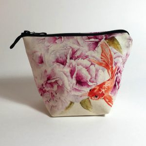 Pochette textile Flamenkoï recto création Jordane Desjardins
