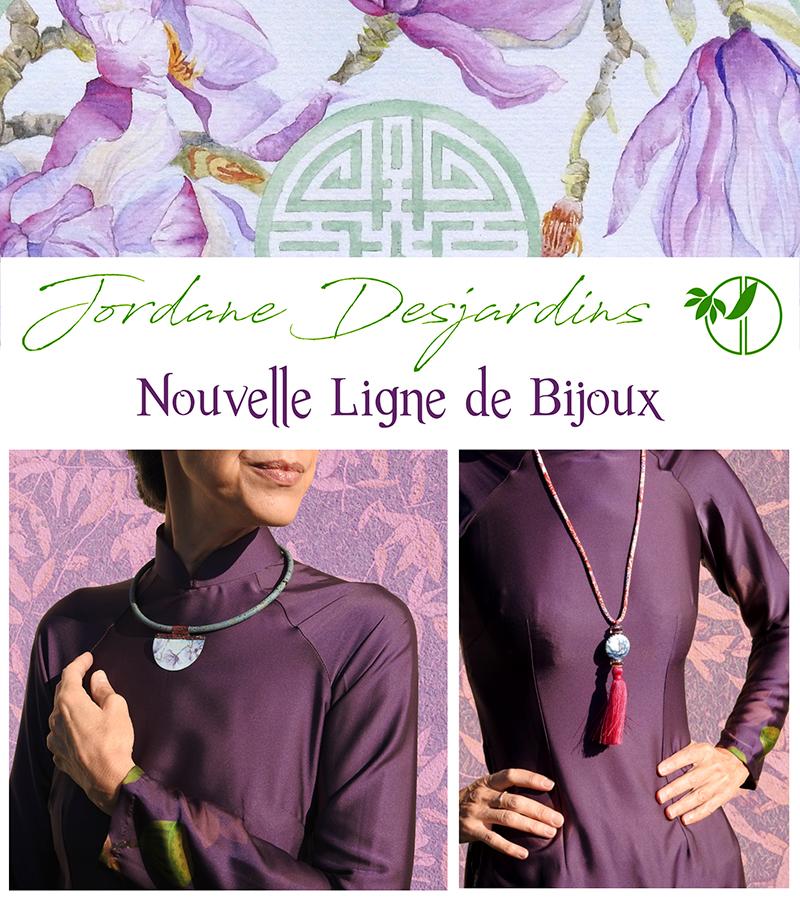 Ligne de bijoux créations Jordane Desjardins