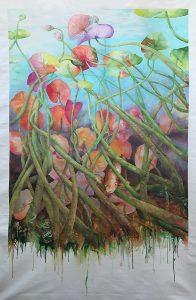 Vers la lumière kakémono peinture Jordane Desjardins