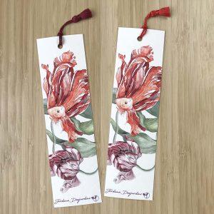 Poissons tulipes - Marque-page - Aquarelle de Jordane Desjardins